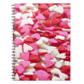 Pink Red Heart Sprinkles Candy Pattern Note Books