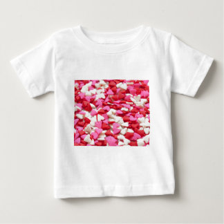 Pink Red Heart Sprinkles Candy Pattern Tshirt