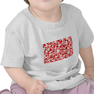 Pink Red Hearts Pattern Valentine's Day Love Tee Shirts