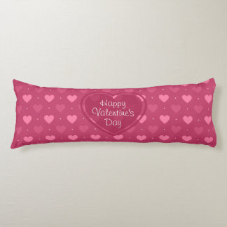 Pink & Red Hearts Valentine's Day Pillow Body Cushion