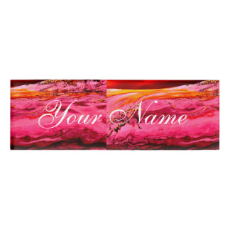pink/red maui wave Thunder_Cove Name Tag