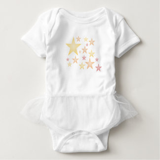 Pink/red/orange stars baby bodysuit