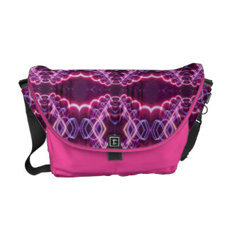 Pink Red Purple Abstract Pattern Messenger Bags