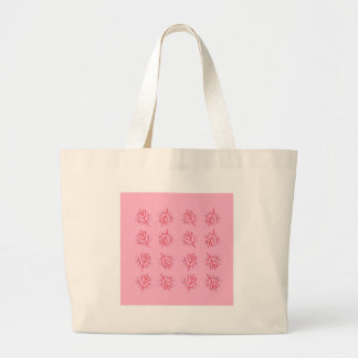 PINK  RED Seaweeds. T-shirts and more Large Tote Bag
