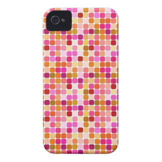 Pink Red Square Pattern BlackBerry Bold Case Cover