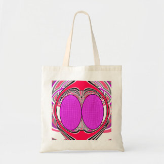 Pink red superfly design tote bags