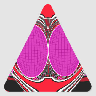 Pink red superfly design triangle stickers