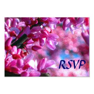 Pink Redbud Blossoms Bat Mitzvah RSVP Card