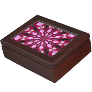 Pink Redbud Medallion Memory Box