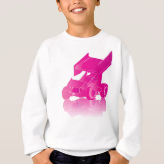 Pink Reflection Winged Sprint Car Sweatshirt