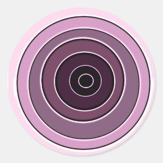 pink reloaded round sticker