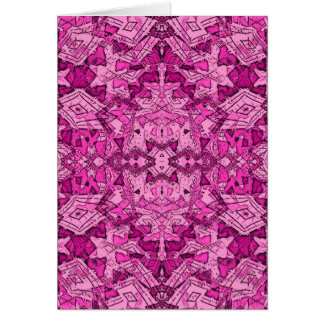 pink repeat pattern greeting card