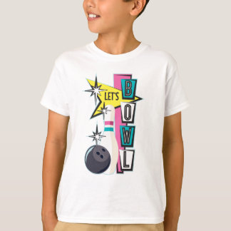 Pink Retro Bowling Design Shirt