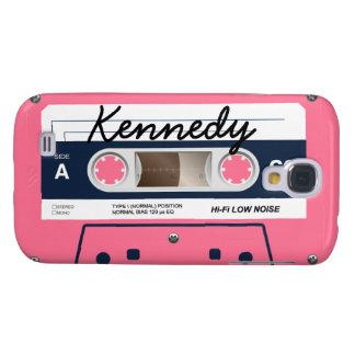 Pink Retro Cassette Tape Samsung Galaxy S4 Cover
