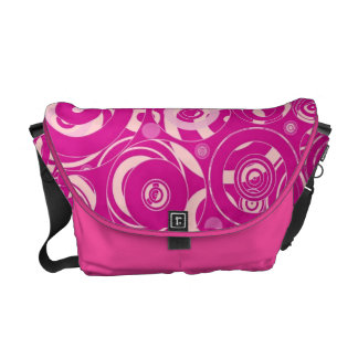 Pink Retro Circles Courier Bags