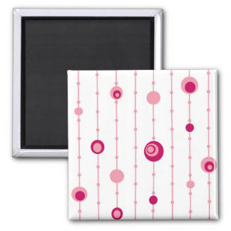 Pink retro circles magnet