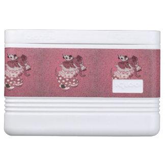 Pink Retro Circus Elephant Cooler