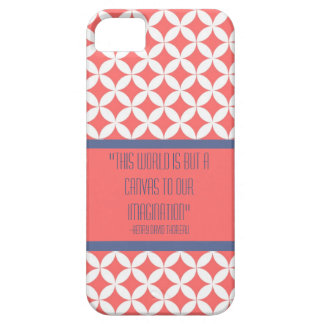 Pink Retro Pattern and Custom Quote Case