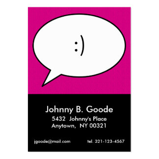 pink retro POP ART personal calling card Business Card