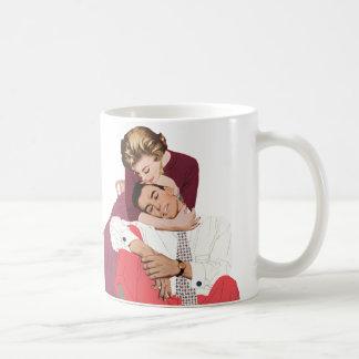 Pink Retro Romance, Vintage Romantic Love Coffee Mug