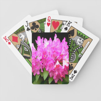 Pink Rhododendron Bicycle Playing Cards