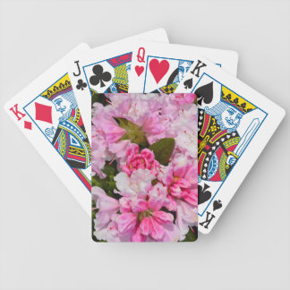 Pink rhododendron flowers in full bloom bicycle playing cards