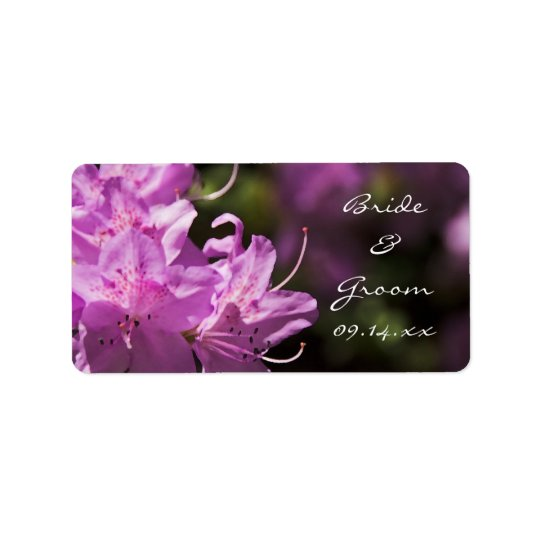 Pink Rhododendron Flowers Wedding Favour Tags