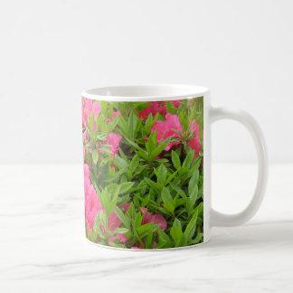 Pink rhododendron spring flower coffee mug