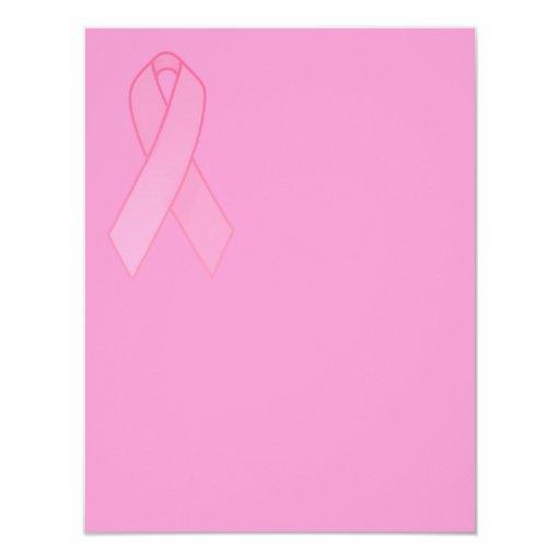Pink Ribbon 11 Cm X 14 Cm Invitation Card