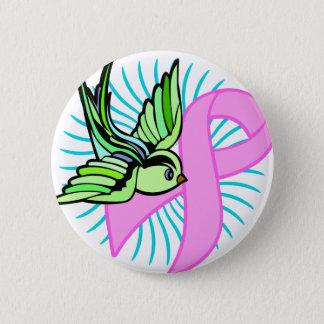 Pink Ribbon 6 Cm Round Badge