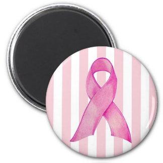 Pink Ribbon 6 Cm Round Magnet