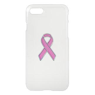 Pink Ribbon Awareness Carbon Fiber Decor iPhone 7 Case