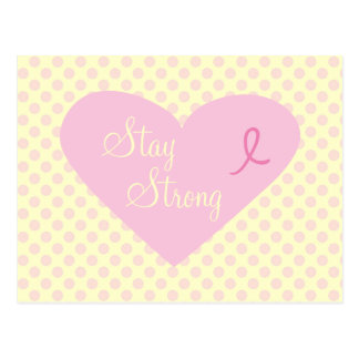 Pink Ribbon Awareness Stay Strong Postcard
