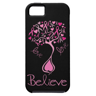 Pink Ribbon Believe and Love iphone 5 Case