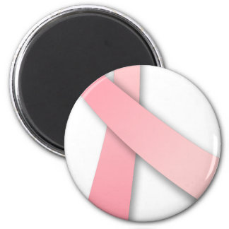 PINK RIBBON Breast Cancer Awareness 6 Cm Round Magnet
