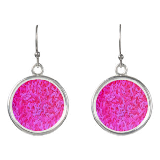 Pink Ribbon Breast Cancer Awareness Jewelry Earrings