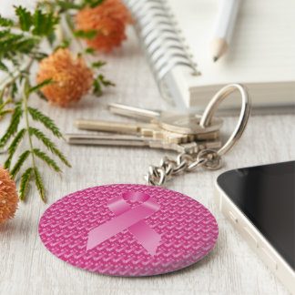 Pink Ribbon Breast Cancer Awareness Key Ring