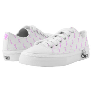 Pink Ribbon Breast Cancer Awareness Low Flops Low Tops