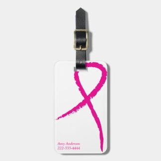 Pink Ribbon Breast Cancer Awareness Luggage Tag