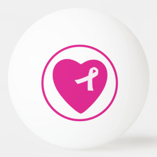 Pink Ribbon Breast Cancer Awareness Ping Pong Ball