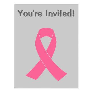 Pink Ribbon - Breast Cancer Awareness Postcard