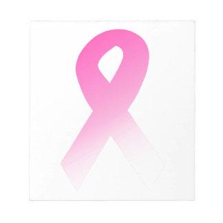 Pink Ribbon Breast Cancer Awarness Memo Pad