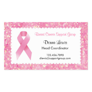 Pink Ribbon Breast Cancer Business Card