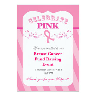 Pink Ribbon Breast Cancer Event Invitation