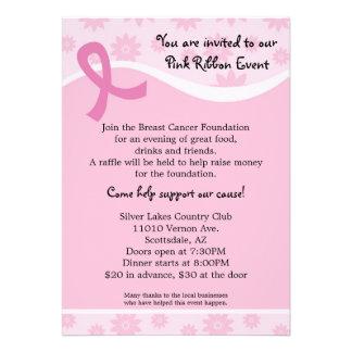 Pink Ribbon Breast Cancer Event Invitation