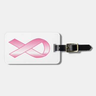 Pink Ribbon Breast Cancer Research Bag Tag