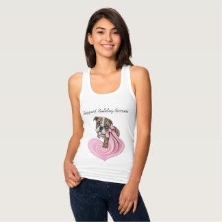 Pink Ribbon Bulldog Puppy Sample Charity Shirts
