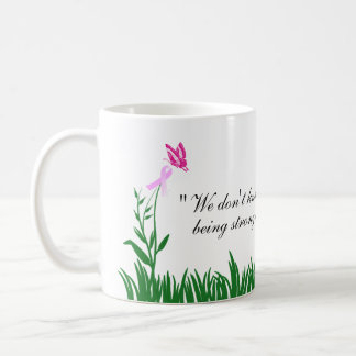 Pink Ribbon Butterfly Breast Cancer Awareness Mug