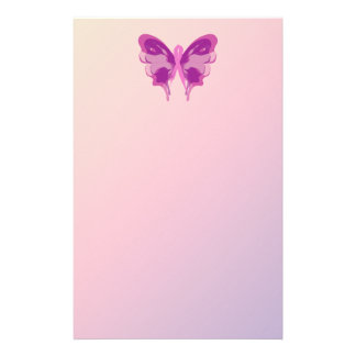 PINK RIBBON BUTTERFLY CUSTOMISED STATIONERY