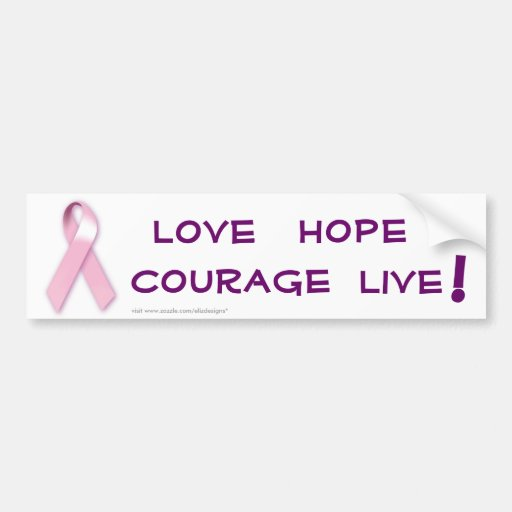 Pink Ribbon Cancer Bumper Sticker